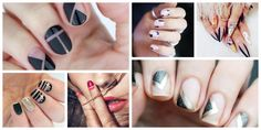 Negative-Space Manicure Ideas That Are Sophisticated And Stylish Disney Manicure, Hot Nail Designs, Neutral Nail Polish, Cow Nails, Negative Space Nails, Black And White Theme, Thanksgiving Nails, Easy Nail Art, Diva Fashion