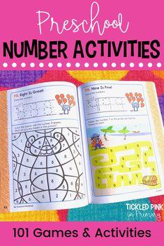 My Preschool Workbook - 101 Games and Activities Kindergarten Workbooks, Preschool Literacy, Literacy Activities, Number Sense Activities, Numbers Preschool, School Readiness, Gross Motor Skills, Elementary Teacher