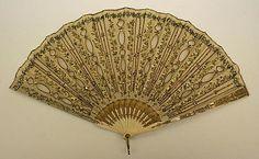 Fan- Date: 18th century Culture: French Medium: silk, ivory