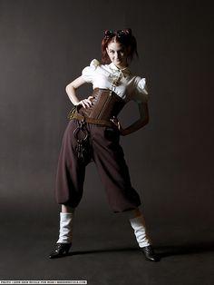 Steampunk fashion.