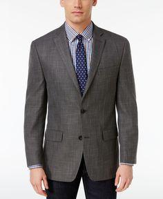 Michael Michael Kors Men's Classic-Fit Gray Check Sport Coat