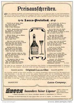 Original-Werbung/Inserat/ Anzeige 1902 - 1/1 SEITE : LUCCA LIQUEUR/PREISAUSSCHREIBEN  - ca. 190 x 280 mm
