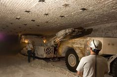 Ideas: Miners digging deep under WIPP, to study the isolating properties of salt. Ancient Aliens, New Mexico, Investigations, Monster Trucks, Caves, Salt, China, Study, Salts