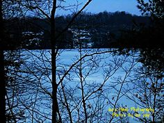 Ice Covered Isabella lake East of Orrville Ontario taken off the Chutes Trail