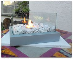 DIY Portable Fire Feature Read this re: using old fishtank = easy