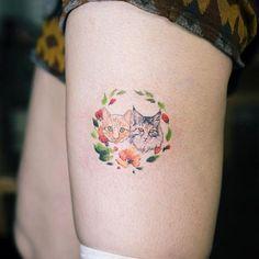 Tatuagem de gato:  90 fotos *MIAUVILHOSAS* 😻