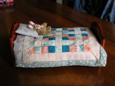 tutorial mini quilt 1:12 scale step by step - by Patrizia Pellegrino
