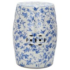 Safavieh Paradise Swallows White Ceramic Garden Stool | Overstock.com Shopping - Great Deals on Safavieh Garden Accents