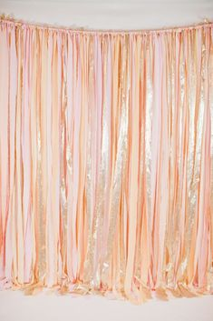 Ribbon garland backdrop