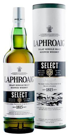 Laphroaig Select new for 2014. Islay single malt peated scotch whisky