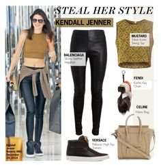 """""""Steal Her Style-Kendall Jenner"""" by kusja ❤ liked on Polyvore featuring Versace, Fendi, Balenciaga, Stealherstyle, celebstyle and kendalljenner"""