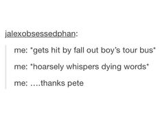 Fall out boy - thanks pete