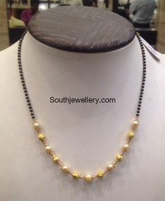 5 Grams Black Beads Mangalsutra photo