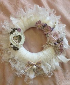 Beautiful shabby chic wreath