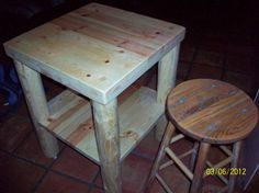 Rolling Butcher block with shelf by WenJammerCreations on Etsy, $400.00