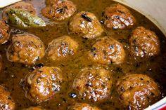 Luikse gehaktballetjes met een tijm/mosterd saus