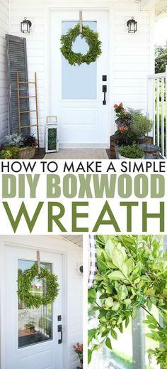 DIY Boxwood Wreath | The Creek Line House