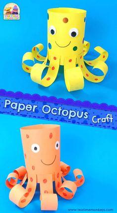 Easy Paper Octopus Craft - Tea Time Monkeys