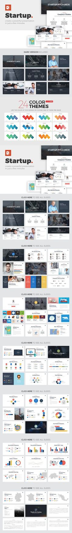 Startup PowerPoint Template. Business Infographic