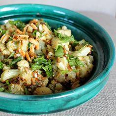 Roasted Cauliflower with Dates, Almonds, and Tahini — Whole Nourishment