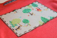 Applique with hand stitching