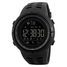 SKMEI 1250 Smart Watch Pedometer Calories Clocks Waterproof Digital Wristwatches Outdoor Sports Watches black *** Check this awesome product by going to the link at the image. Note: It's an affiliate link to Amazon #mensleathersmartwatch