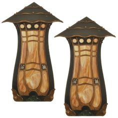 Loon peak avyanna 1 light outdoor wall lantern outdoor wall 1stdibs period arts and crafts corner wall sconces with slag glass aloadofball Choice Image