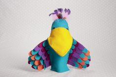 Patience The Parrot Hand Puppet Sewing Pattern