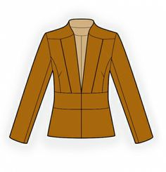 Jacket With Decorative Lapels Sewing Pattern #4243
