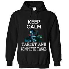 ((Top Tshirt Popular) Keep Calm Target And Complete [Tshirt Sunfrog] Hoodies, Tee Shirts