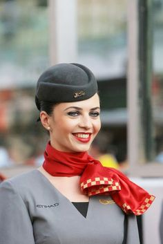 High Fashion: Etihad Airways Flight Attendant Uniforms ~ Cabin Crew Photos