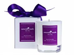 Natural Soy Wax Candle fragrance with Rose Geranium & Lavender essential oils