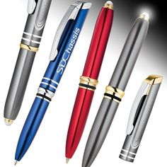 Florence Light Pen promo metal lighted pens