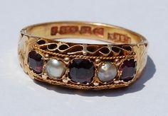 15 Carat Gold Gypsy Ring Victorian Era Antique