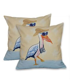 This Yellow Tourist Throw Pillow - Set of Two by E by Design is perfect! #zulilyfinds