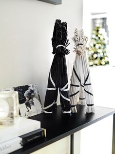 Christmas preparations - joulukoristeet Christmas Preparation, Bookends, Christmas Decorations, Home Decor, Christmas Decor, Ornaments, Interior Design, Christmas Ornaments, Home Interior Design