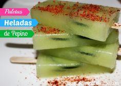 Simple & Delicioso: Paletas Heladas de Pepino {Con chilito Tajin} #Delicioso #Refrescante #VRE