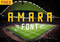 """Check out my @Behance project: """"AMARA   Free Font"""" https://www.behance.net/gallery/52581943/AMARA-Free-Font"""