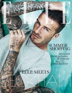 David Beckham On The Cover Of Elle UK July 2012