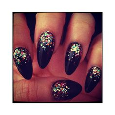 Rebellious Style Stiletto Nails ❤ liked on Polyvore featuring beauty products, nail care, nail treatments, nails and makeup