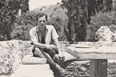 """Patrick Leigh Fermor, in Greece, portrait by his wife, Joan, from the book """"Peregrinos de la belleza: Viajeros por Italia y Grecia"""". Patrick Leigh Fermor, Humble House, Graham Greene, Yesterday And Today, Indiana Jones, France Travel, Pilgrimage, Style Icons, Pilgrim"""