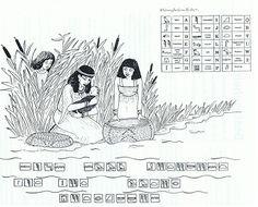 Exodus 2: Geheimschrift Mozes uitkomst: zijn naam betekent uit het water getrokken