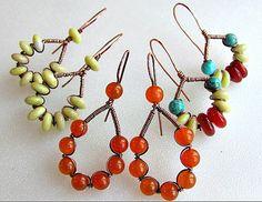 Bead and Wire Earrings Tutorial from artzjewelry.wordpress.com