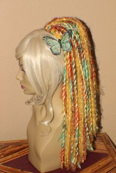 Sale Yellow & orange multi color hair fall