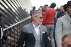 Nick Wooster - two toned coat  Ph: Beyond Fabric