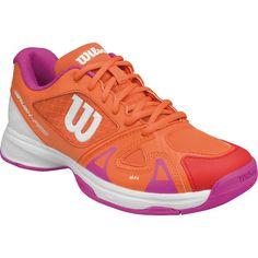 Wilson Kids' Grade School Rush Pro 2.5 Tennis Shoes, Girl's, Orange/Pink