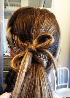 Low braided pony, we must try this look asap! hairstyle via fashionfrill.com