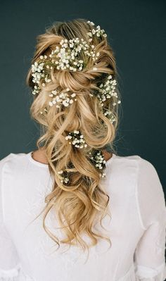 10 Pretty Braided Wedding Hairstyles: #8. Floral Twisted and Pulled Braid Hair Styles for Wedding