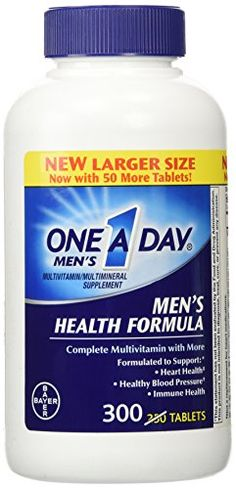 One A Day Mens Health Formula 300 Tablets Complete Multivitamin with Lycopene Support Health Health Immune Heart Healthy Blood Pressure * Read more  at the image link. (This is an affiliate link and I receive a commission for the sales)