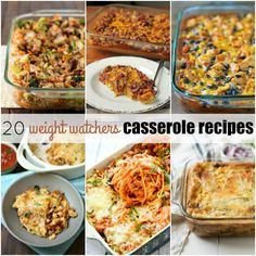 These 20 Weight Watchers Casserole Recipes will help you eat better while still enjoying your favorite easy casserole recipes!